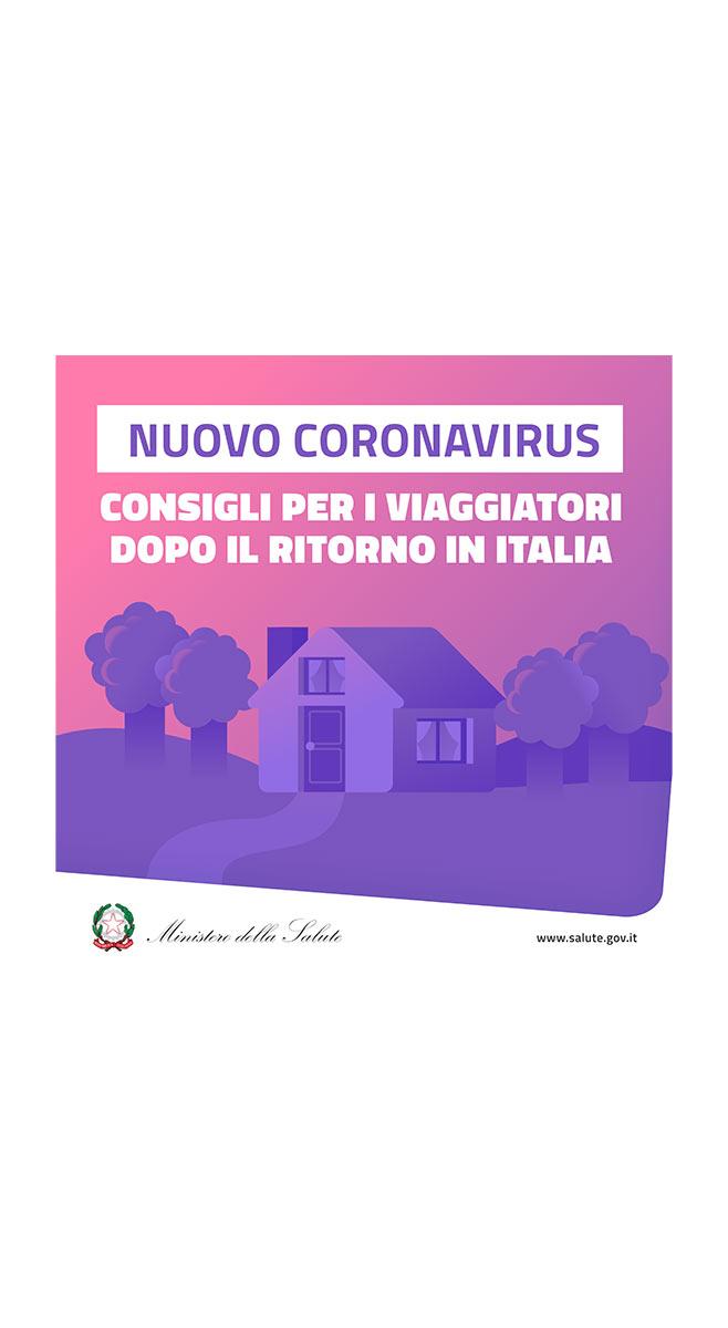 Viaggiatori ritorno Italia Min. Salute