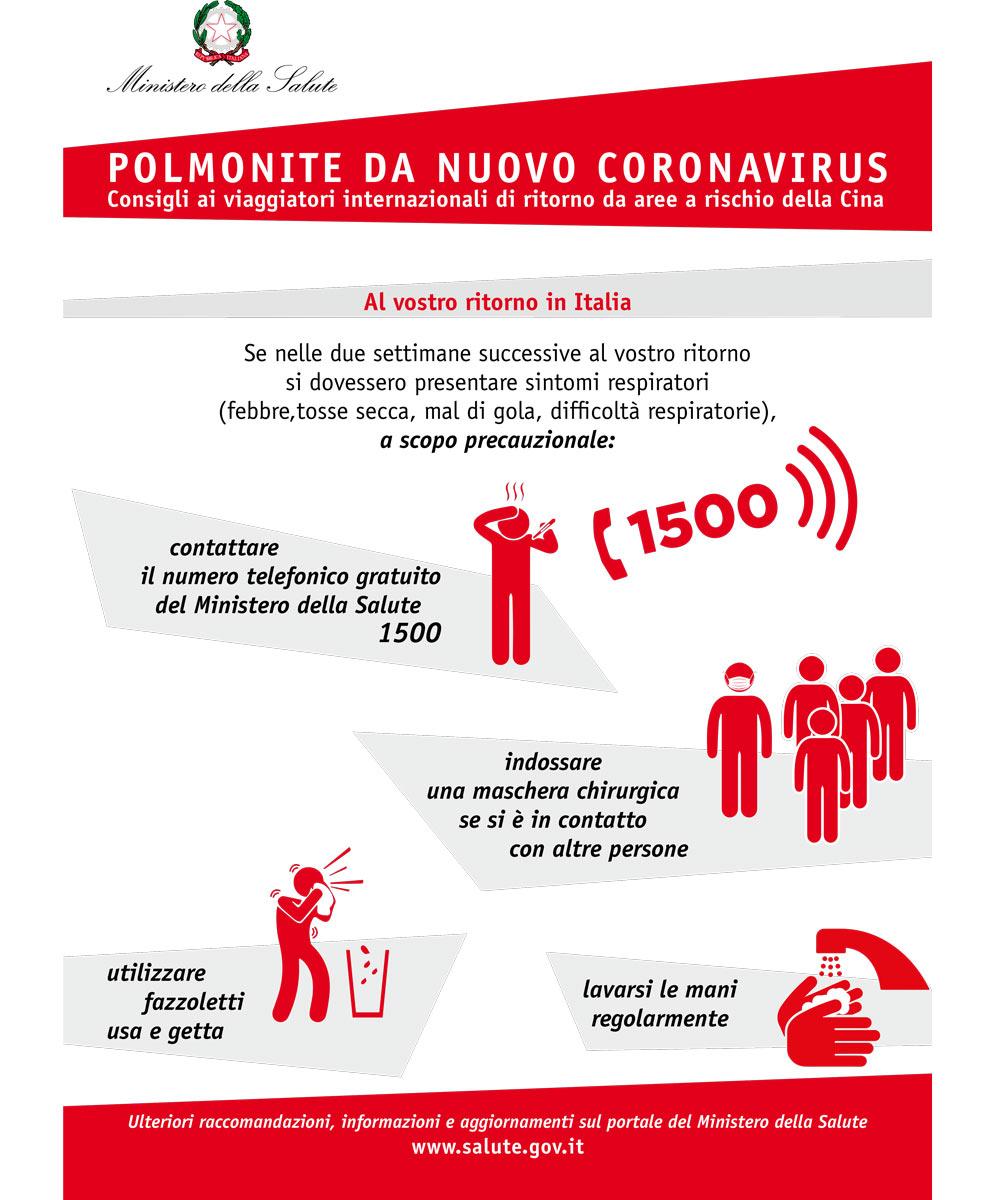 Polomonite coronavirus Min. Salute